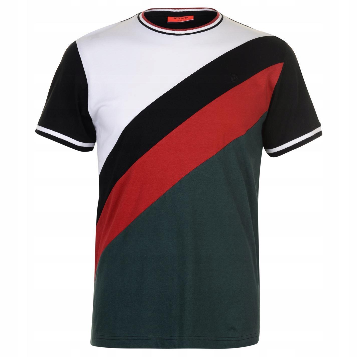 E2179 PIERRE CARDIN koszulka T-SHIRT męski L