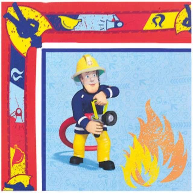 Serwetki STRAŻAK SAM Fireman straż pożarna 20 szt
