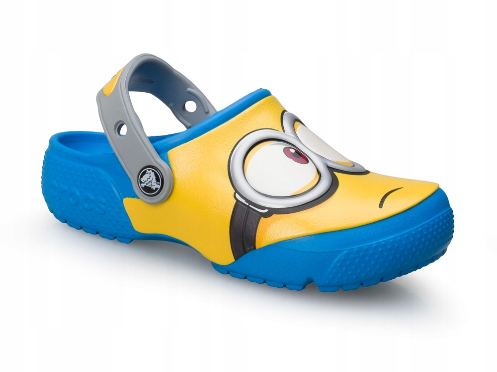 Dziecięce klapki gumowe Crocs 204113-456 MINIONKI