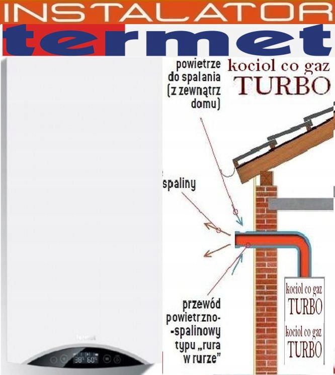 kocioł Termet Turbo 2-funk zamk.komora+fach.montaż
