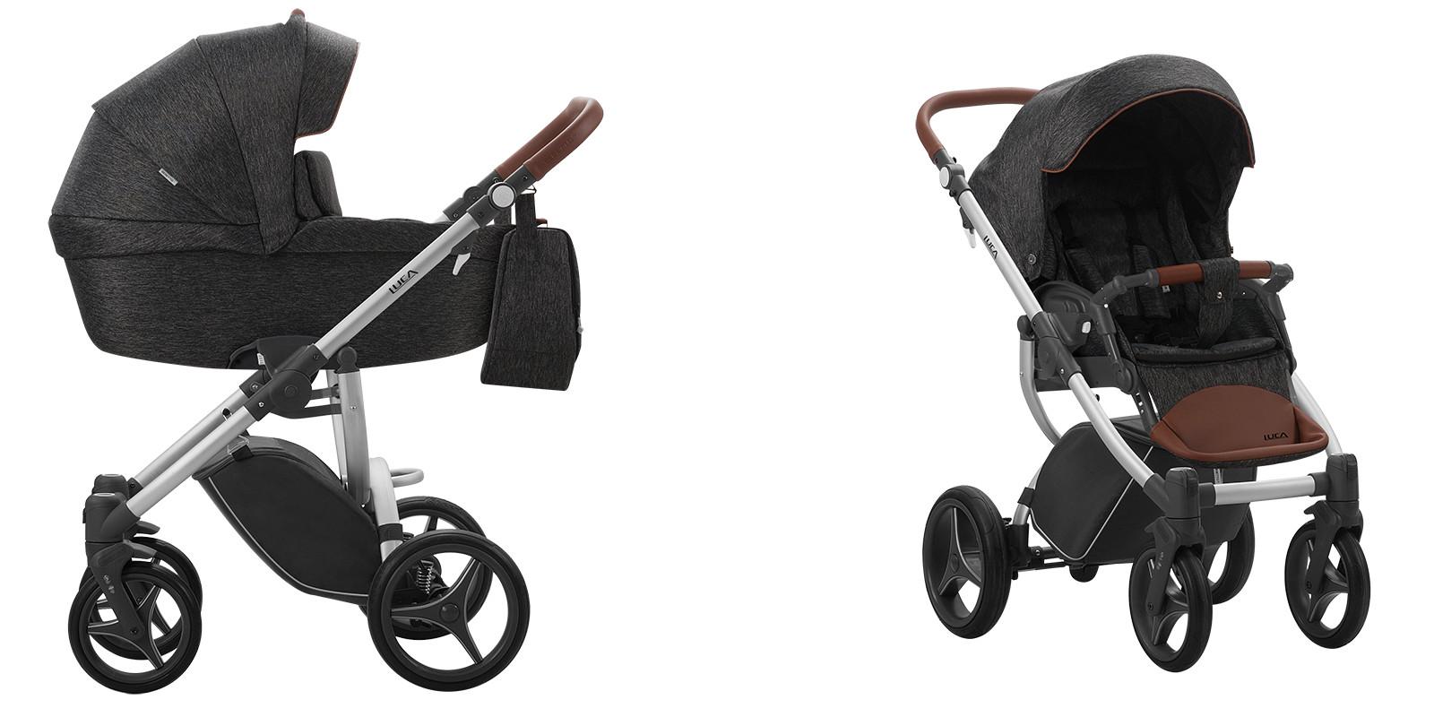 Bebetto LUCA wózek wielofunkcyjny 2w1 srebrna rama