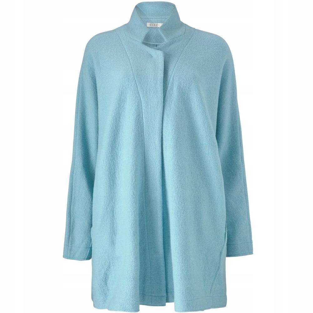 MASAI Tham Płaszcz z wełną oversize niebieski XXL
