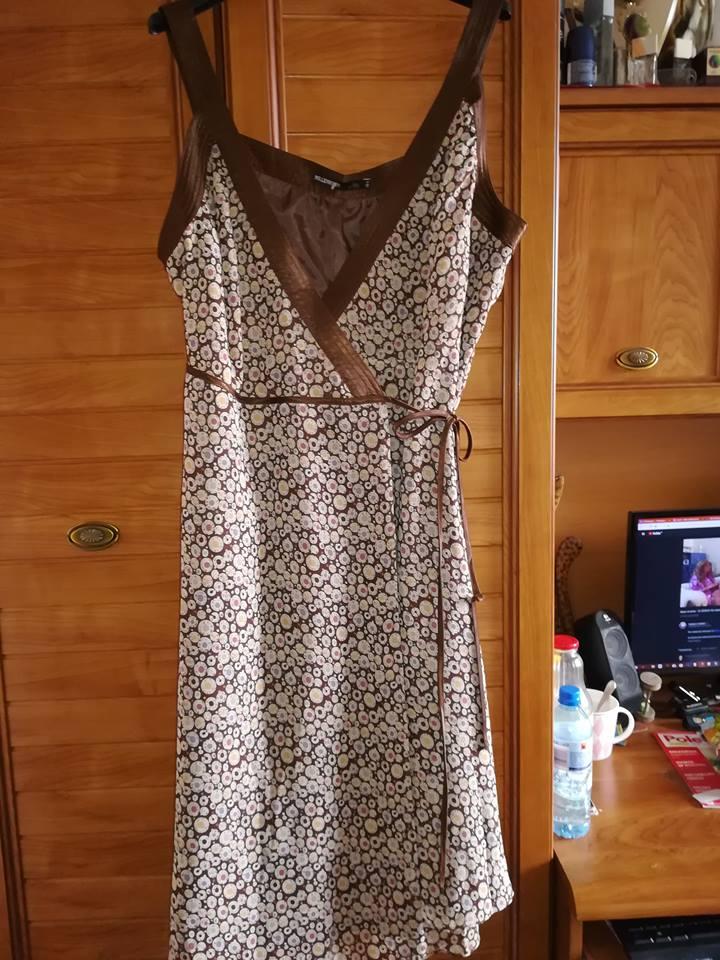 d50abca222 Śliczna kopertowa sukienka dla lekko puszystej 44 - 7363728463 ...
