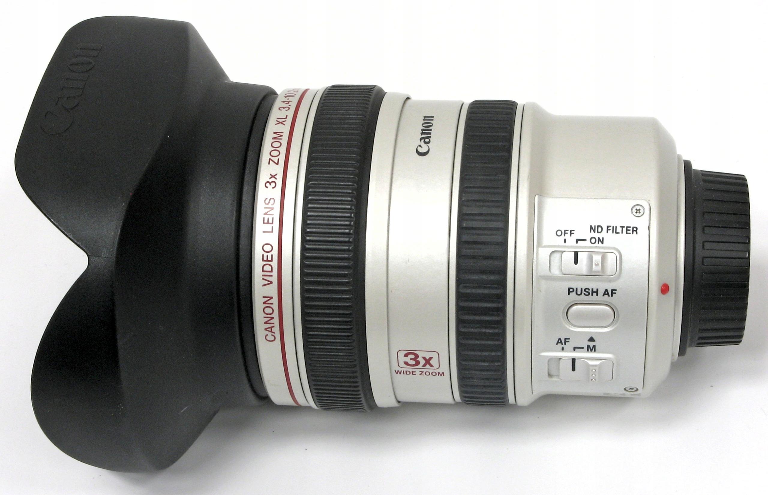 obiektyw szerokokątny Canon 3x ZOOM XL 3.4-10.2 mm