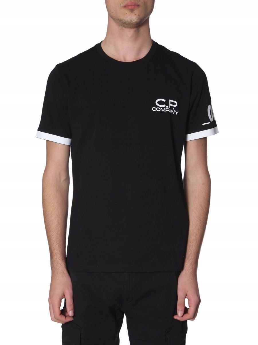 CP COMPANY MĘŻCZYZN CZARNY T-SHIRTY L INT