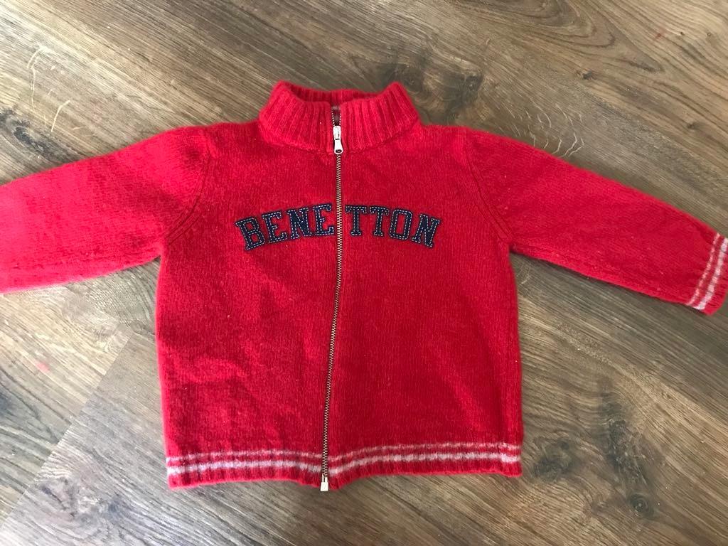 Benetton sweterek wełniany 68 74 80