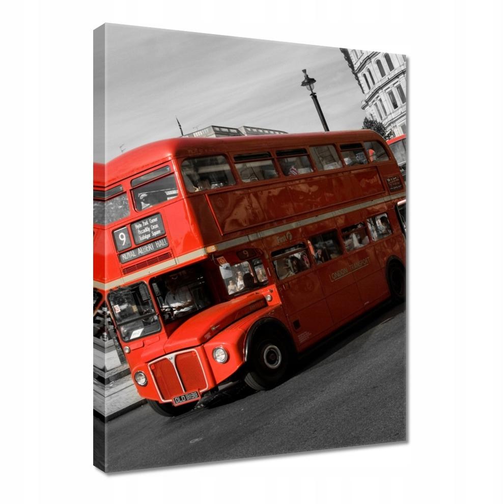 Obrazy 50x70 Czerwony autobus z Londynu