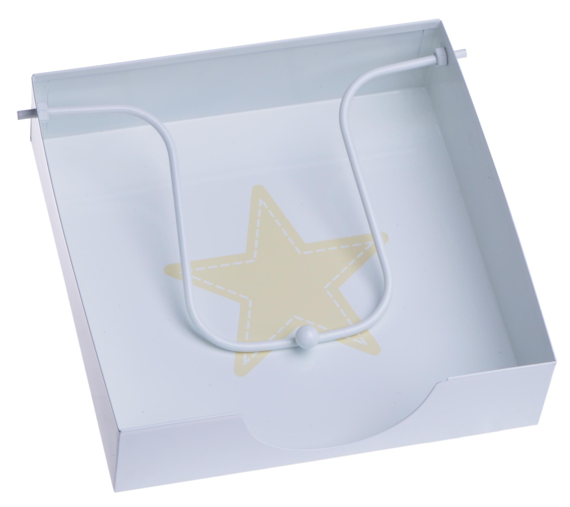 Metalowy serwetnik z gwiazdką serwetki