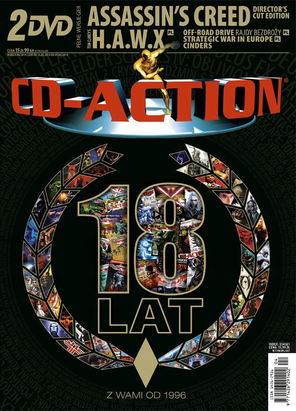 CD-ACTION Nr 4 / 2014 - NOWY, FOLIA