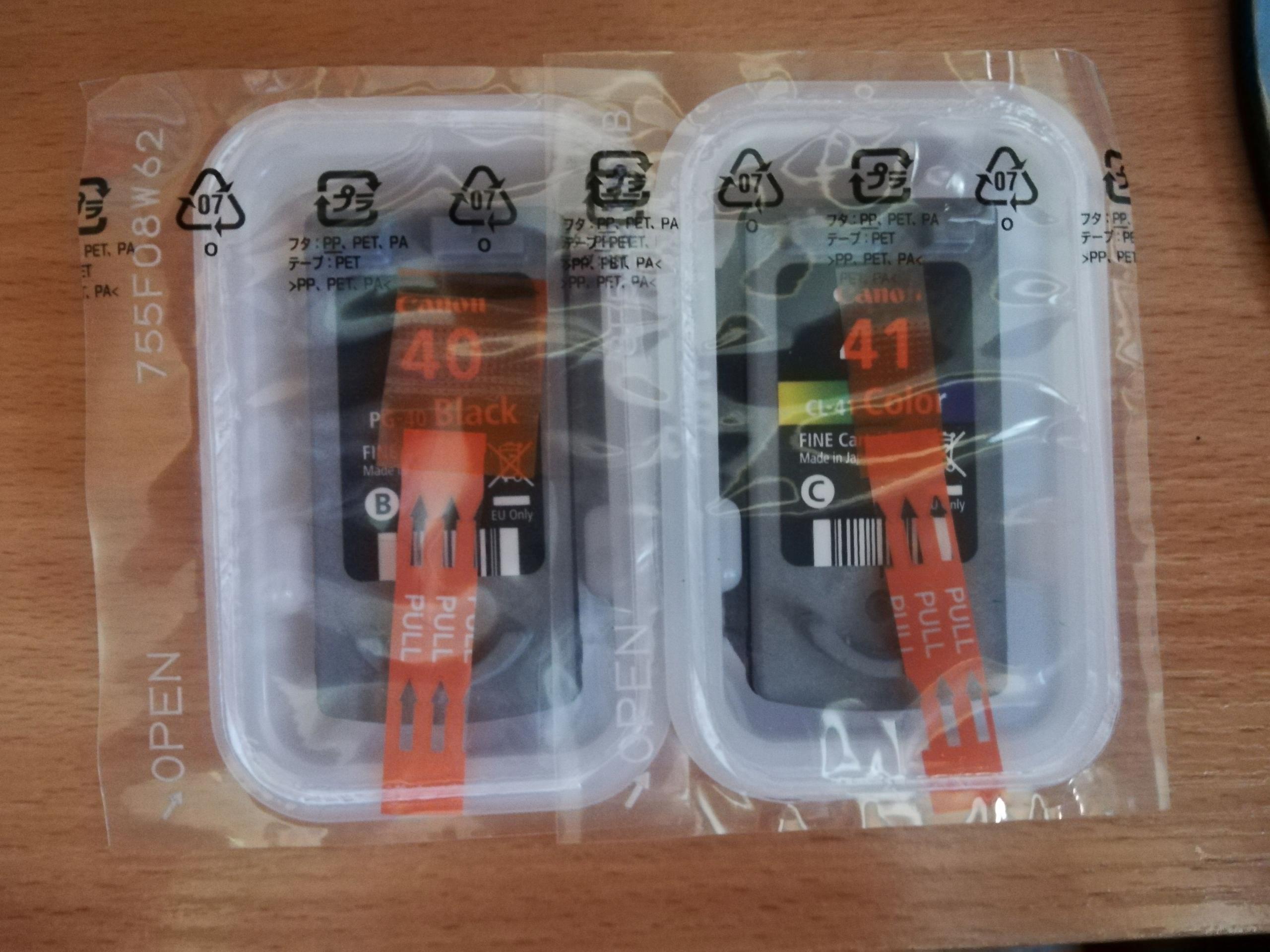 Puste Cartridge CANON PG40 CL41