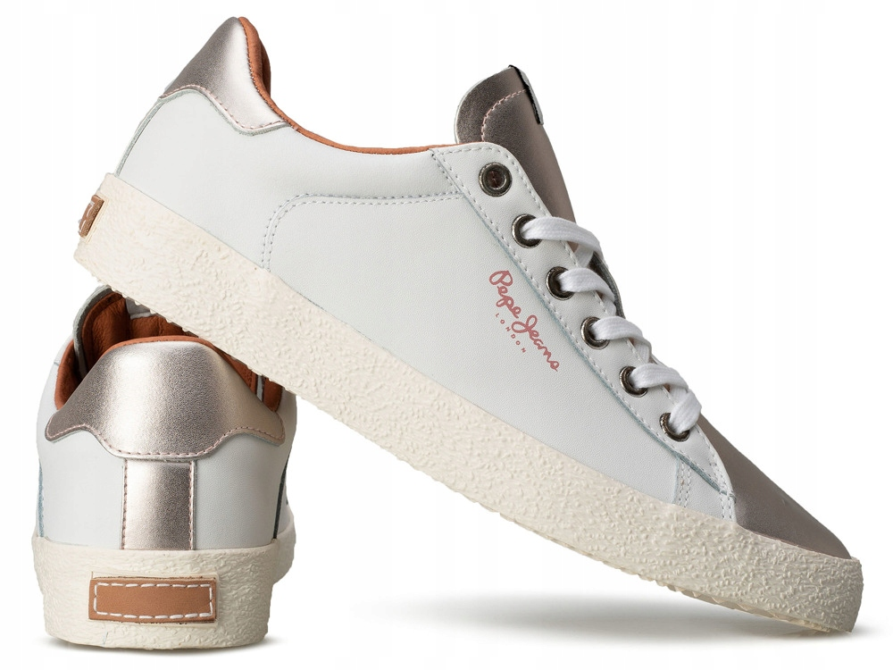 Białe buty sportowe PEPE JEANS trampki damskie HIT