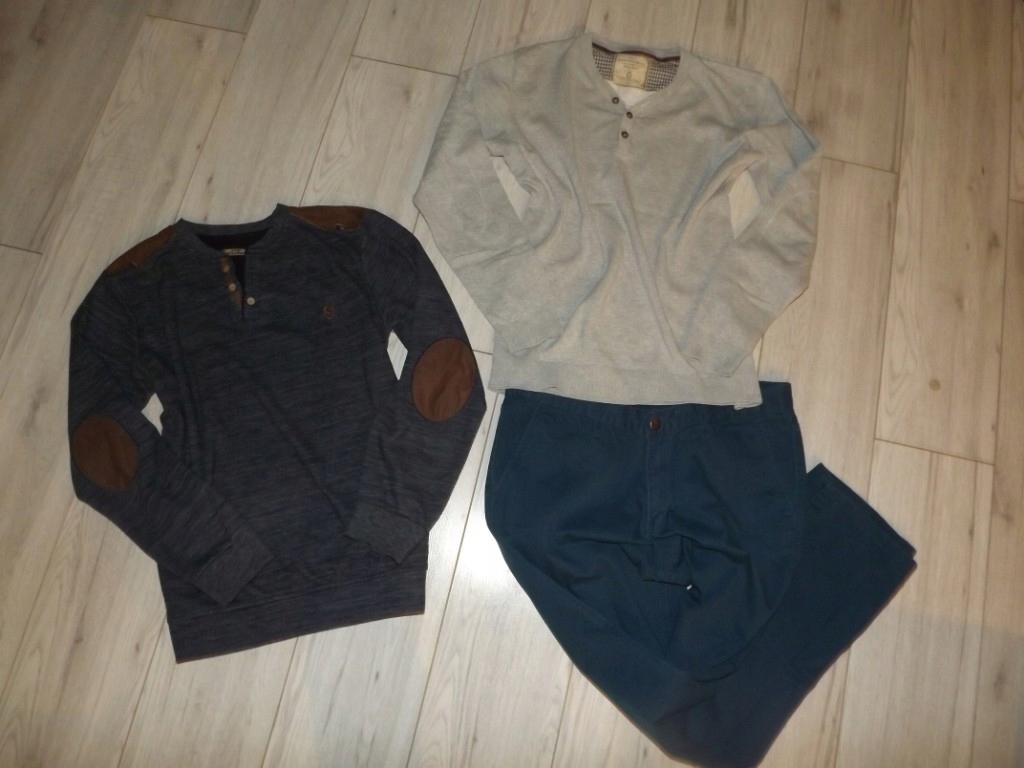 Zestaw Męski Sweterki Spodnie L