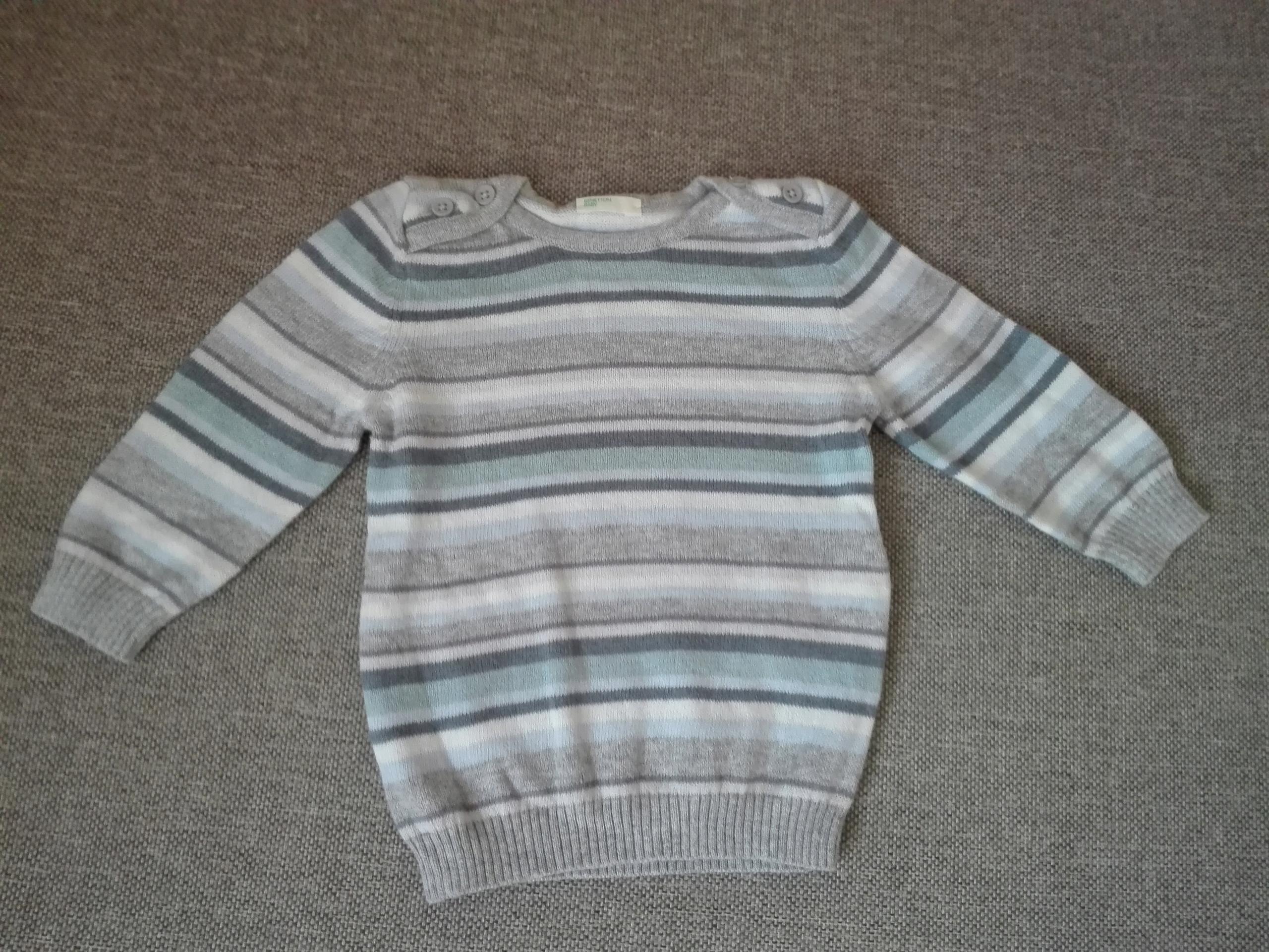 Sweterek Benetton, nowy, świetna jakość, r.62