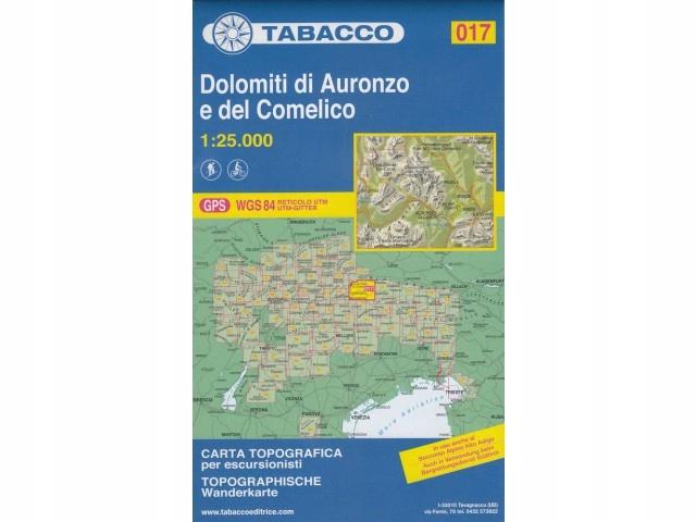 Tabacco 017 Dolomity Auronzo mapa 1:25 000