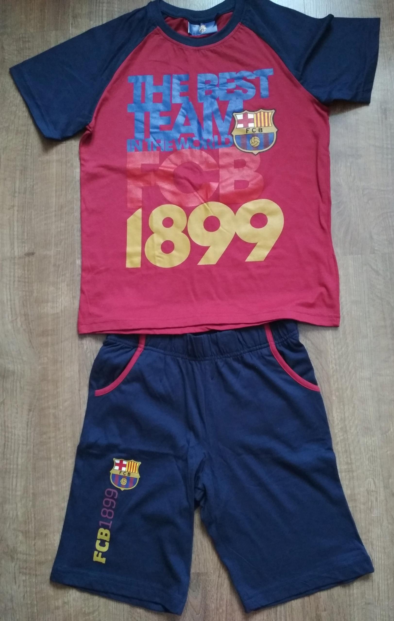 Bawełniany strój dziecięcy FC Barcelona 128/134