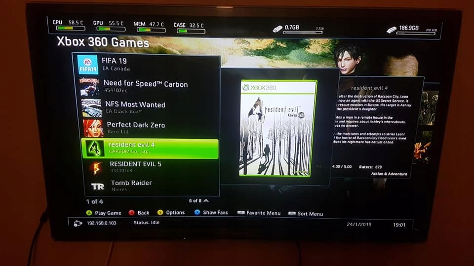 Konsola Xbox 360 Slim RGH 250GB+29 Gier - 7833308036
