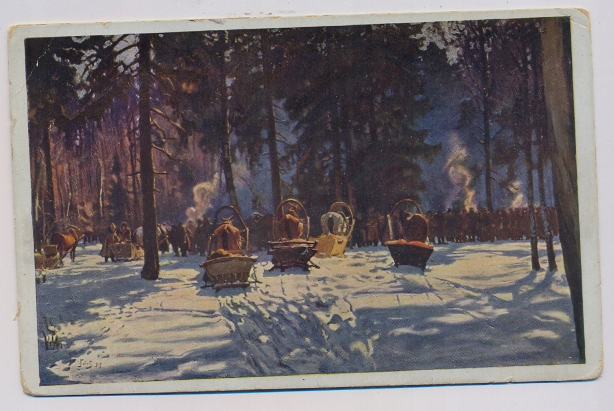 J. Fałat ok.1930r. przed polowaniem 752f