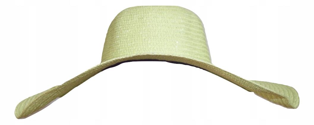 Kapelusz plażowy letni zielony