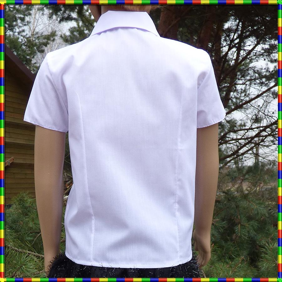 b2576e7a6e3ac8 Biała bluzka koszulowa krótki rękaw kwiaty 122 n32 - 7528748057 ...