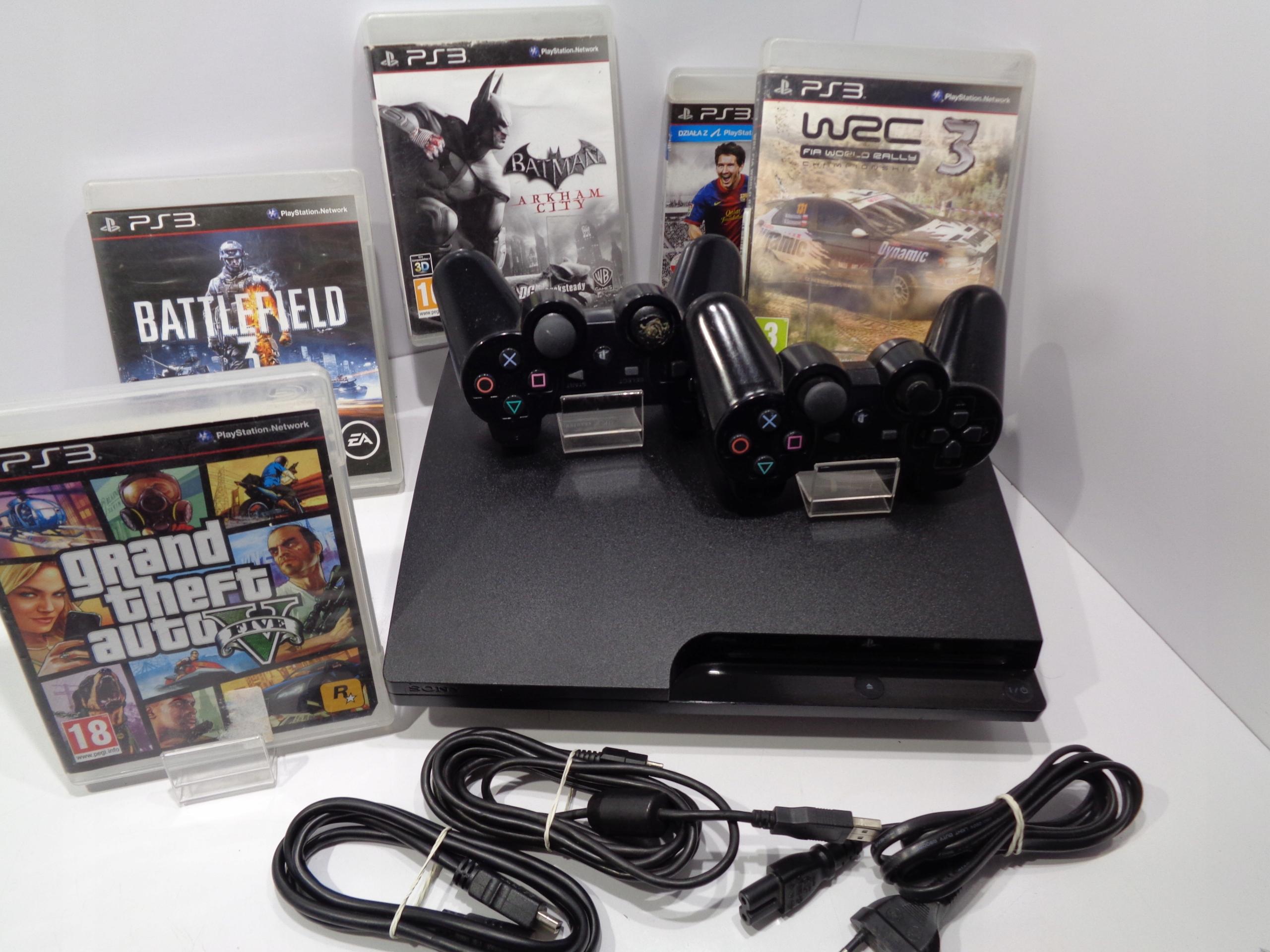 Sony PS3 Slim CECH-3004B 320GB+2XPAD+5XGRA