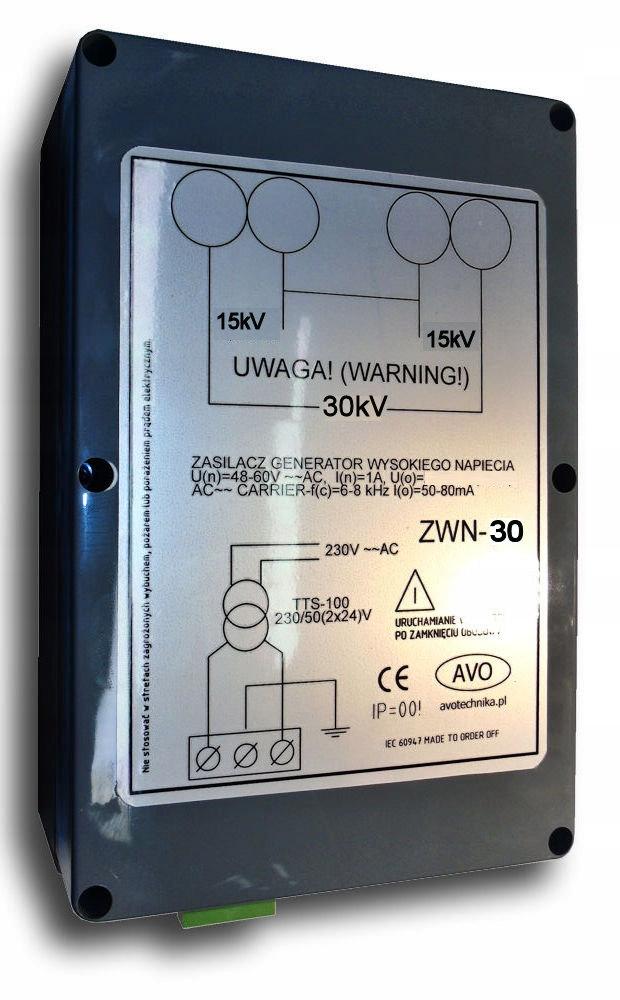 Generator wysokiego napięcia 30kV elektrostatyka