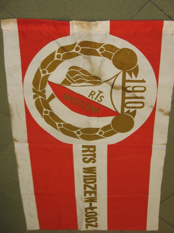 WIDZEW ŁÓDŹ flaga z lat 80-tych