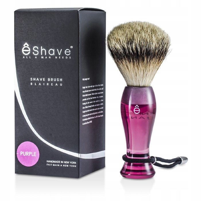 ESHAVE FINE BRUSH - PURPLE -NOWY PĘDZEL DO GOLENIA