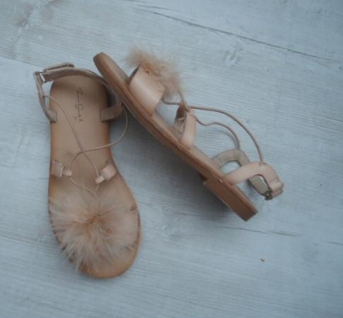 ZARA Girls ze skóry super sandałki na rzep ---31