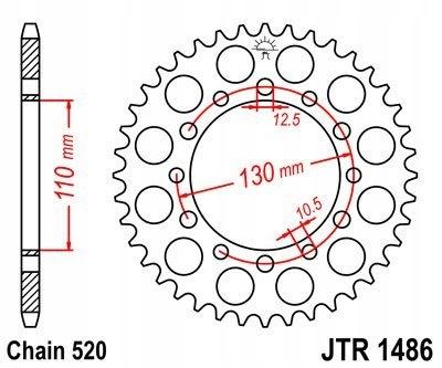 ZĘBATKA TYLNA JT 42-ZĘBÓW ER 500 1997-2006