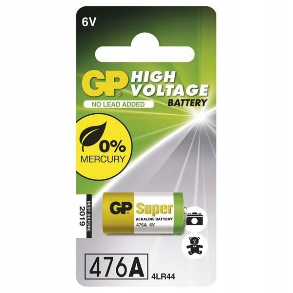Bateria alkaliczna, 476A, 4LR44, 6, GP, blistr, 1-