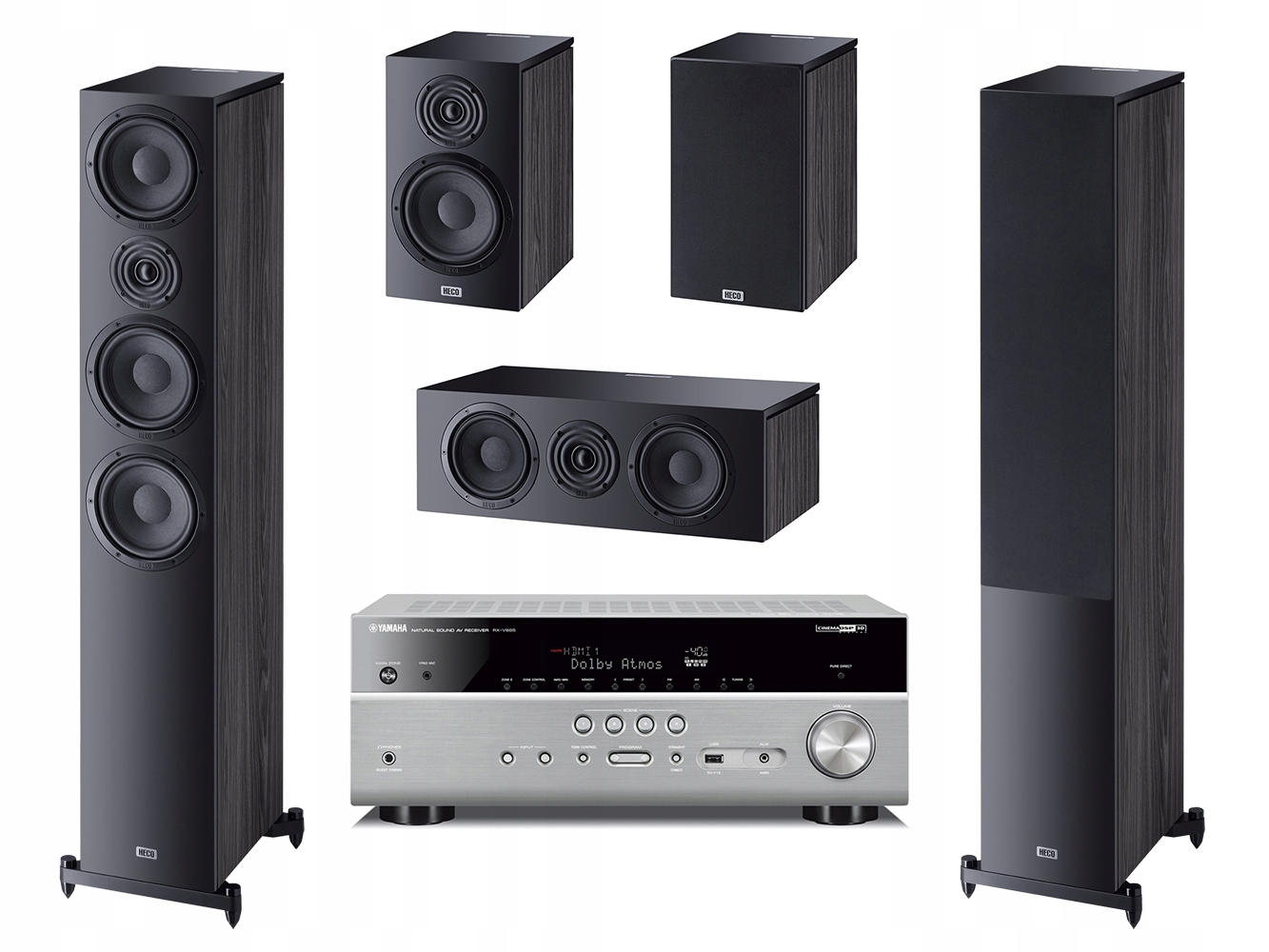 HECO AURORA 700 300 Center 30 + YAMAHA RX-V685
