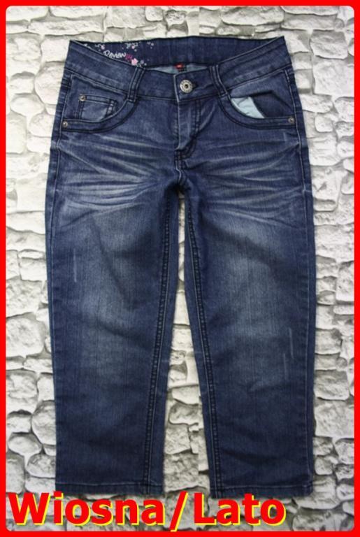ba10ac27 Młodzieżowe Jeansowe Spodnie Rybaczki 34 XS Ry238