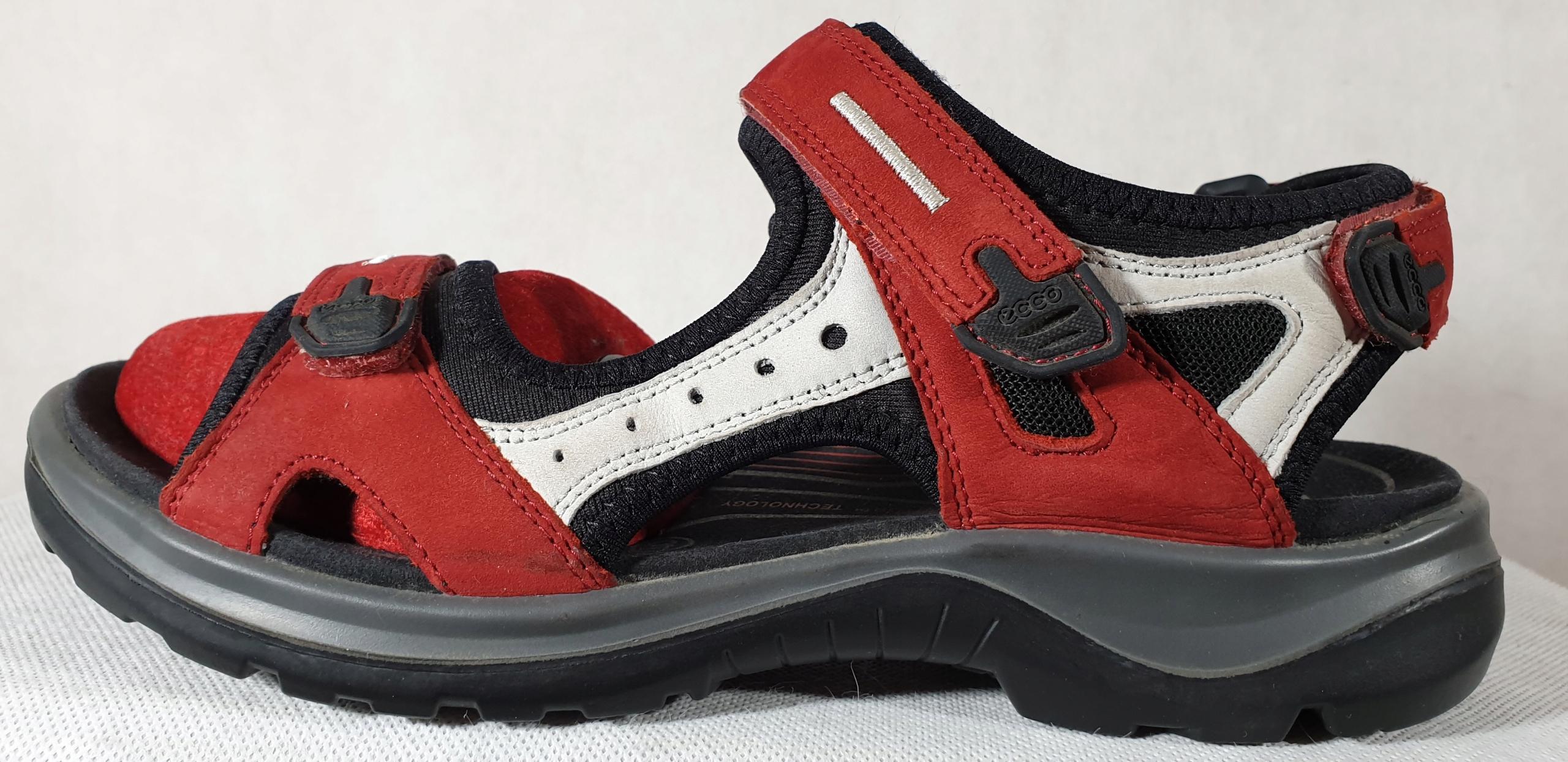 Skórzane sandały ECCO roz.40,dł.wkł 26cm S.IDEALNY