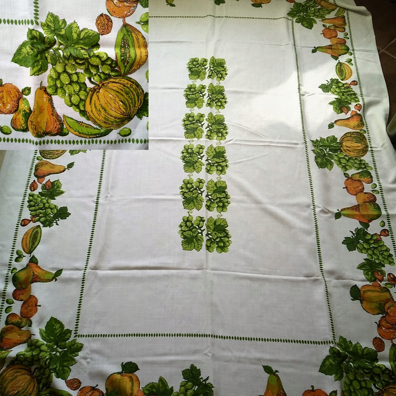 Obrus bawełniany duży,owoce