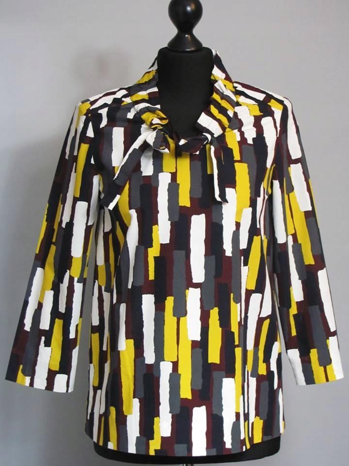 cos bawełniana bluzka drapowania print r. 38/M
