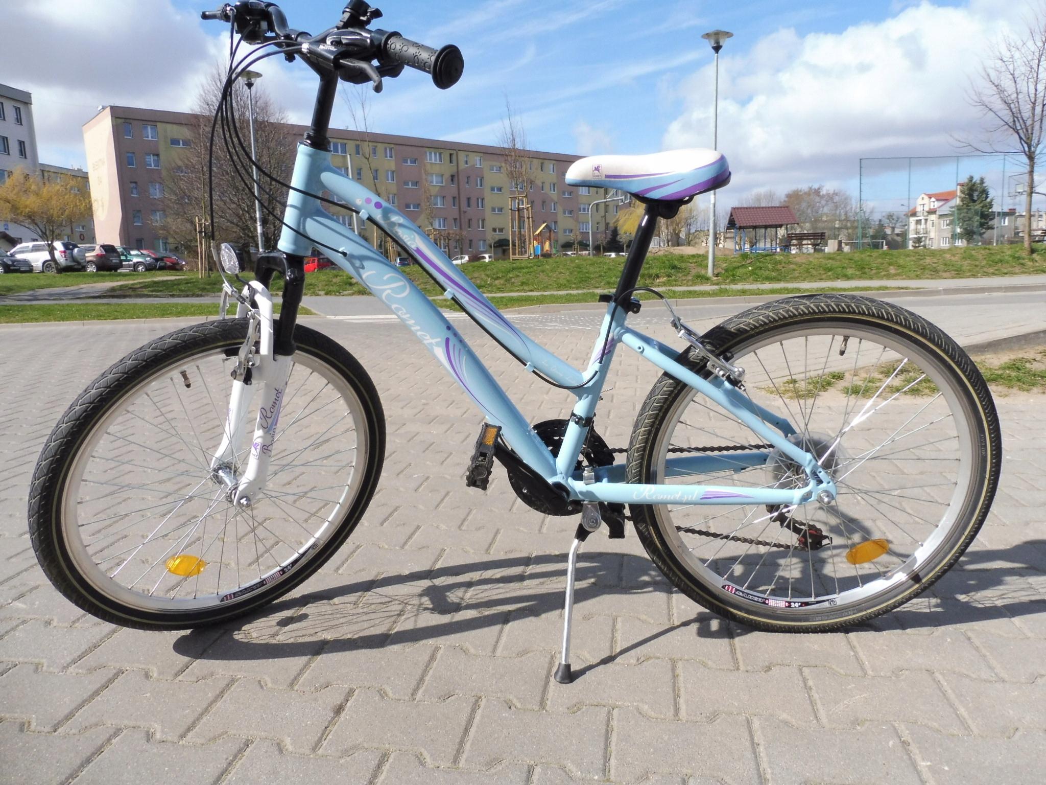 Rower Romet Basia '24 dla dziewczynki, stan BDB