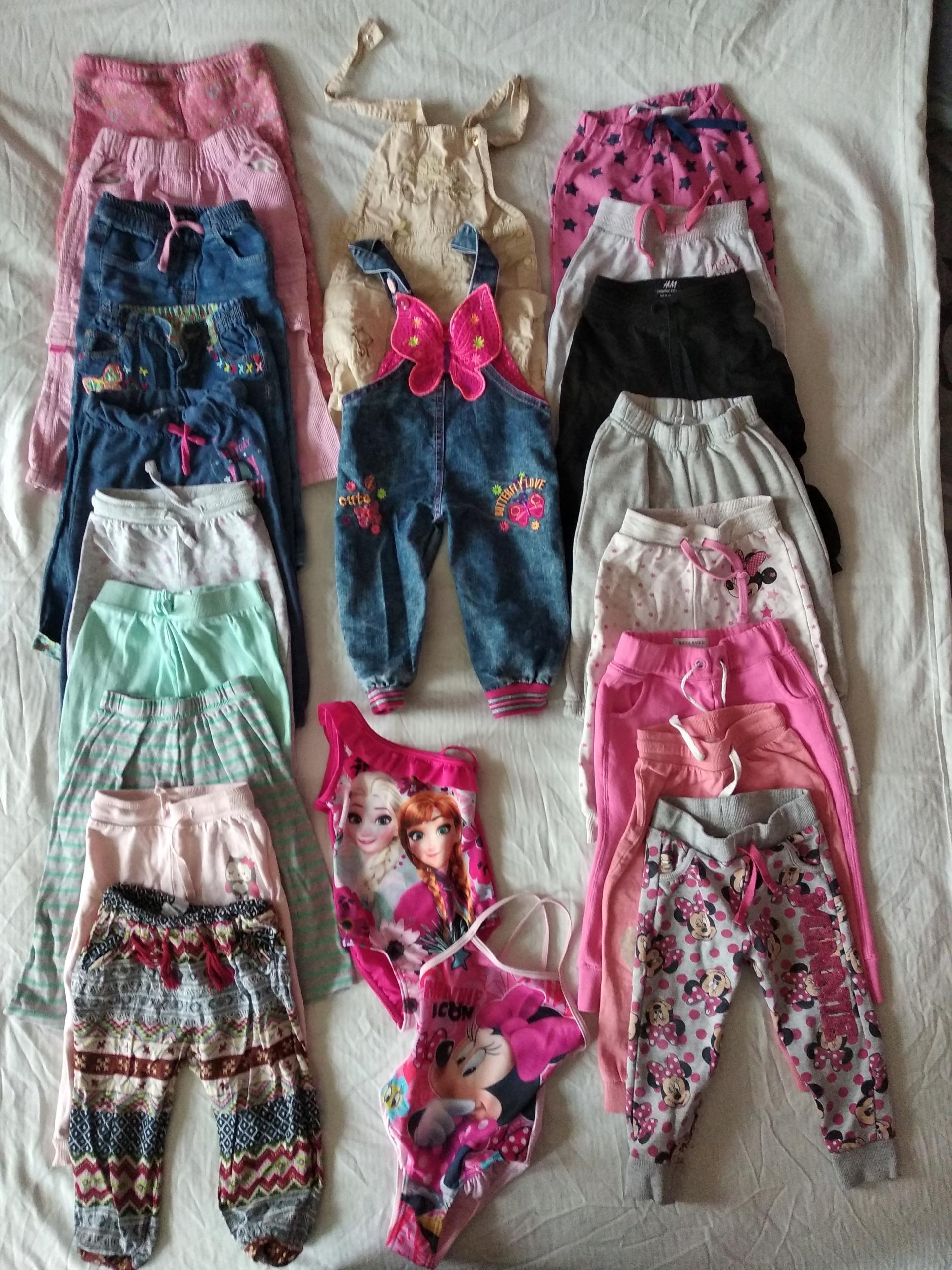 Ubranka dziewczęce w rozmiarze 86