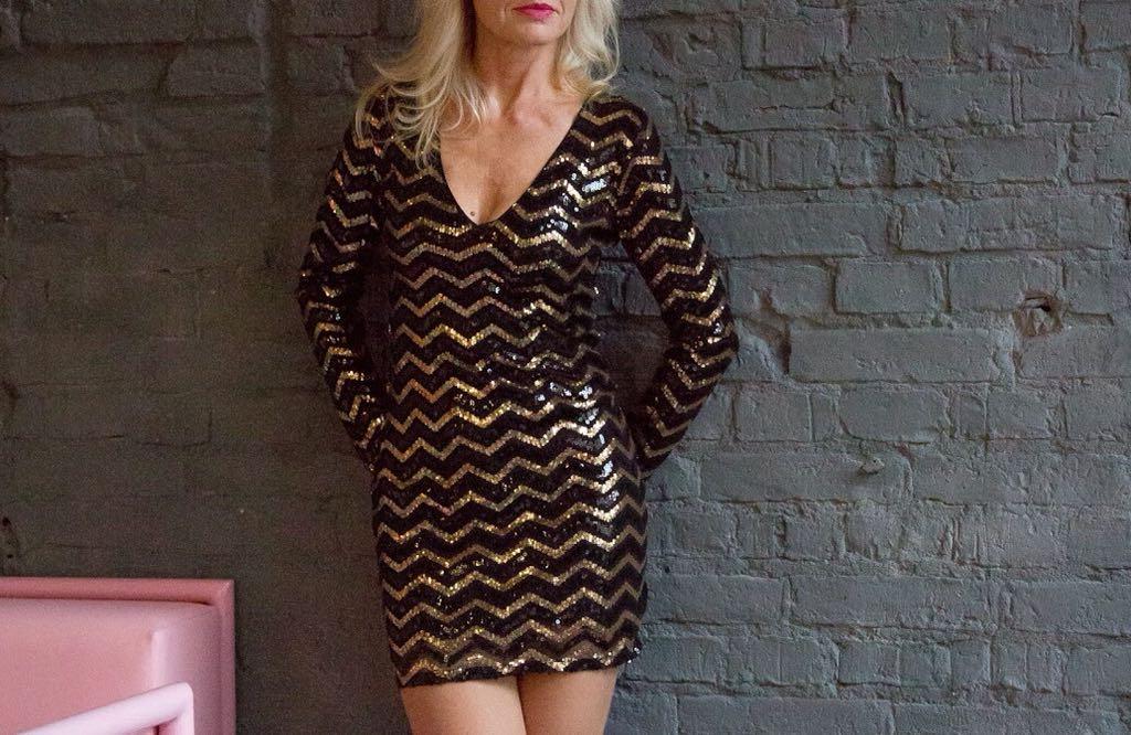 2d1dd9ad22 Sukienka cekinowa cekiny h m złota - 7086006829 - oficjalne archiwum ...