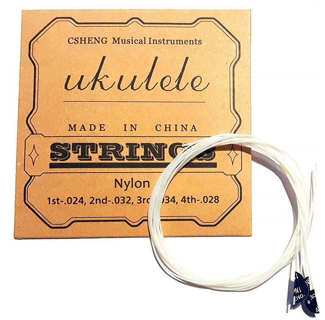 Struny do UKULELE - Biały Nylon / Komplet
