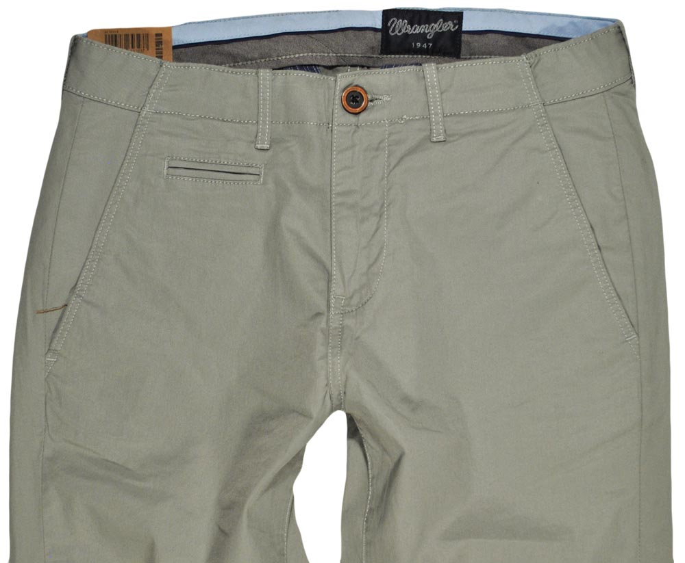 WRANGLER spodnie SLIM regular grey CHINO _ W30 L34