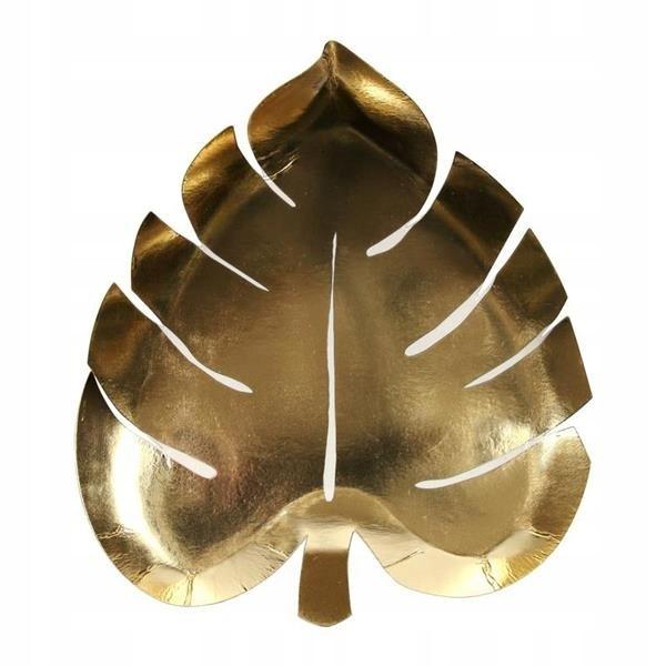 Meri Meri Talerzyki Liść palmowy złoty