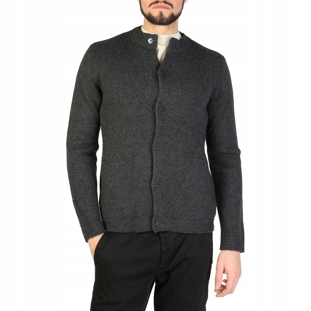 Emporio Armani męski sweter szary 48