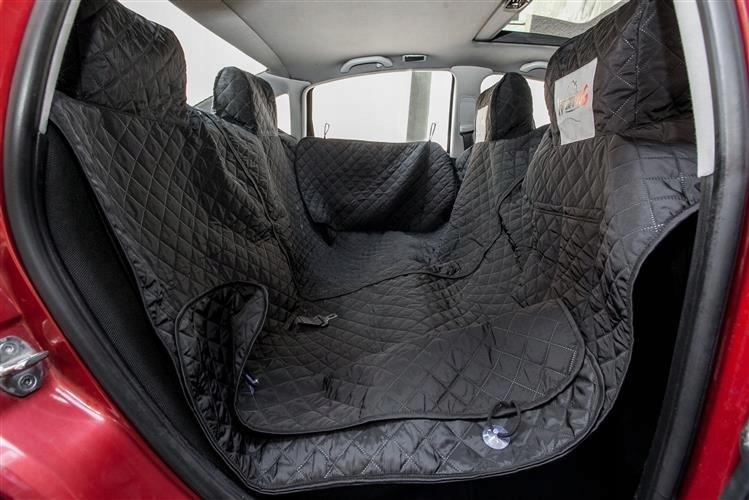 Pokrowiec samochodowy dla psa 190x140 cm rzep bok