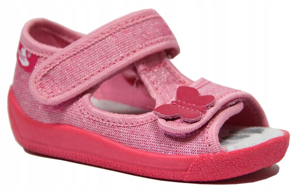 REN-BUT buciki sandały 13-140-P kapcie motylek 22
