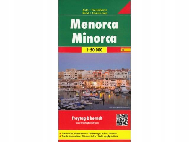 Mapa Menorca, 1:50 000 Freytag Berndt