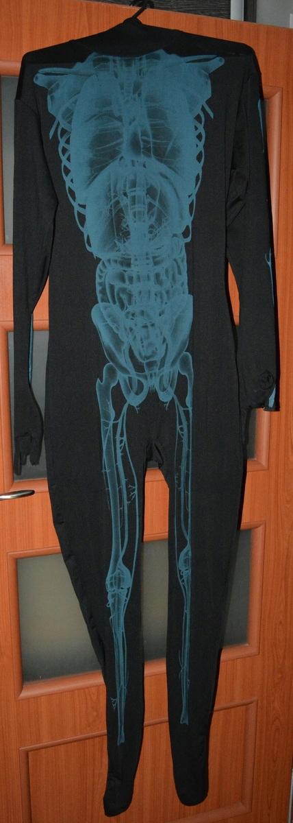Przebranie szkielet z kapturem L