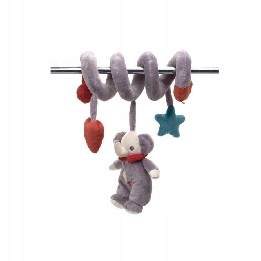 Fisher Price słoń maskotka z grzechotką na spirali