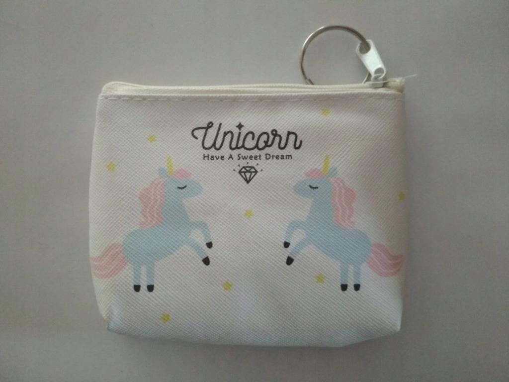 e559c5fe18228 portfelik portmonetka Unicorn biała na klucze - 7481609422 ...
