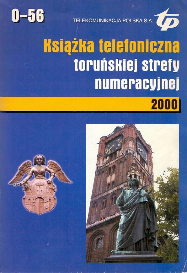 Książka telefoniczna toruńskiej strefy numeracyjne