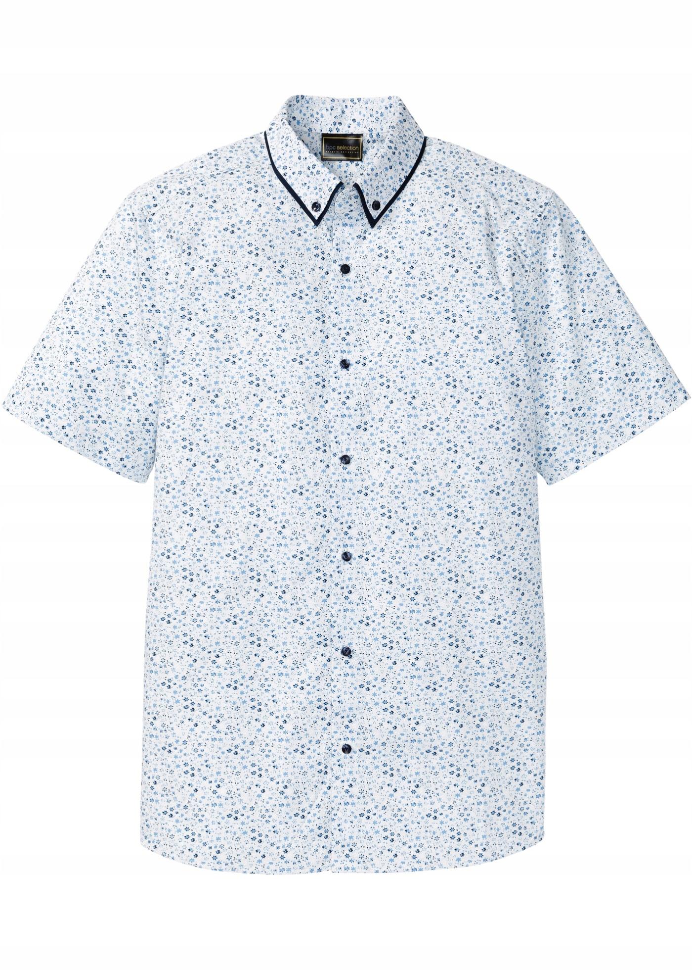 M110 BPC Koszula z krótkim rękawem w kwiaty 47/48